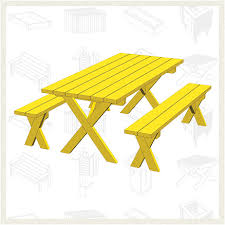 Plans For Building A Wooden Patio Table by 20 Free Picnic Table Plans Enjoy Outdoor Meals With Friends