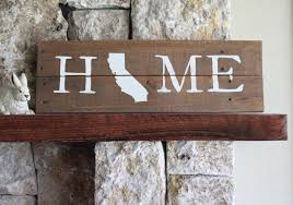 california home sign reclaimed wood sign ca home sign