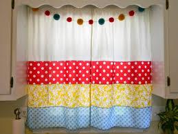 bright colorful kitchen curtains decorating mellanie design