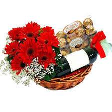 wine basket delivery flowers to mumbai same day delivery of flowers to mumbai