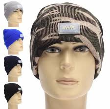 beanie with led lights light up led beanie led lighting knitted hats women men cing cap