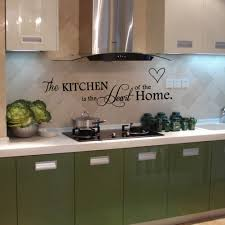 removable black slogan wall sticker kitchen is heart of home