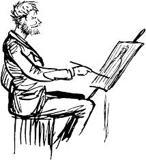 man painting clipart etc