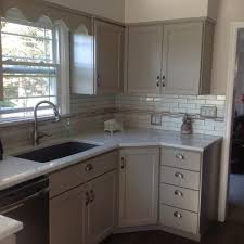 Dark Grey Cabinets Kitchen by Metro White Kitchen With Grey Backsplash View Full Size Gray And