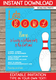 bowling invitation template musicalchairs us