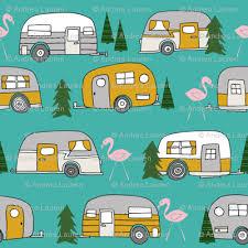 vintage camper retro camper van flamingo retro vintage florida