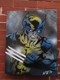 Amazing Spray Paint - wolverine x men graffiti painting 16x20 inches amazing spray