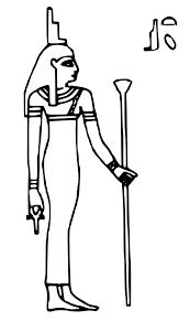 imagenes egipcias para imprimir mitología egipcia 14 dioses y diosas páginas para colorear