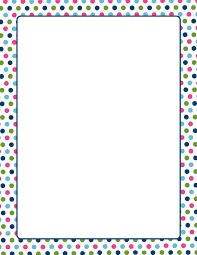 multi color polka dots letterhead printable stationery