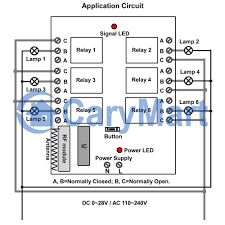 On Off Timer Circuit Diagram 6ch Ac 220v Wireless On Off Controller Receiver 10a 0020451 S6c