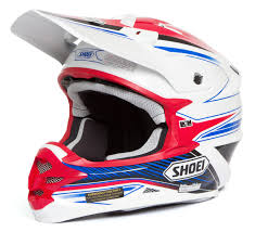 shoei helmets motocross shoei vfx w helmet sear tc 10 red blue sunstate motorcycles