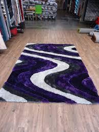 Indoor Area Rugs by Shaggy Indoor Area Rug In Grey With Purple Rug Addiction