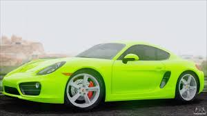 porsche cayman green porsche cayman s 2014 for gta san andreas
