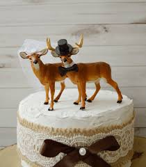 rustic deer wedding cake toppers buck and doe country themed
