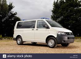 volkswagen van front view 2009 vw volkswagen transporter police van front view stock photo