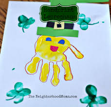 leprechaun handprints the neighborhood moms