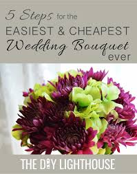 how to make wedding bouquet how to make an easy and cheap diy wedding bouquet