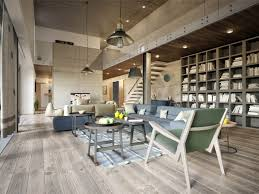 3 eclectic modern apartment layout with industrial concrete wall