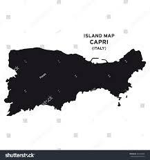 Map Of Capri Italy by Island Map Capri Italy Stock Vector 442304266 Shutterstock