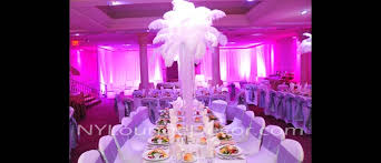 centerpiece rental ny lounge decor feather table centerpieces