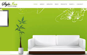 Websites For Interior Designers Styleinn Bootstrap Interior Design Website Template