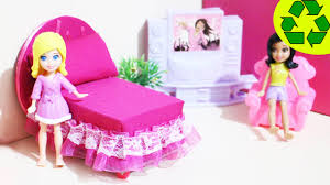 How To Make Dollhouse Furniture From Recycled Materials How To Make A Mini Bed For Your Mini Doll Doll Crafts