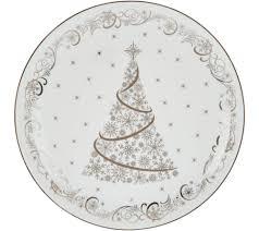temp tations metallic christmas eve or winter 16pc dinnerware set