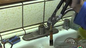 how to fix a leaky kitchen faucet meon youtube