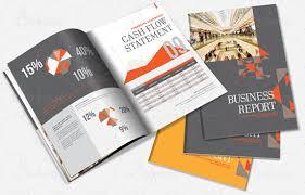 indesign annual report brochure template desktop publishing