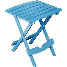 Folding Side Table Manufacturing Quik Fold Side Table Pool Blue Walmart