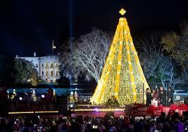 yellow christmas tree christmas lights decoration