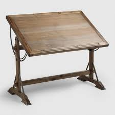 Wood Drafting Table Drafting Desk World Market