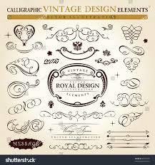 calligraphic elements vintage ornament set vector stock vector