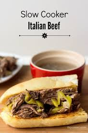 slow cooker italian beef its yummi bites of food and life
