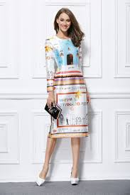 celebrity inspired print long sleeve cocktail party dresses