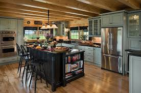 black kitchen cabinets in log cabin 30 rustic kitchens designed by top interior designers log