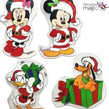 disney mickey minnie mouse christmas xmas window gel sticker picture 2 of 2