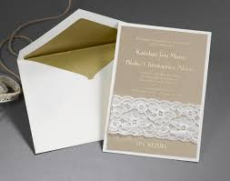 White And Gold Wedding Invitation Cards Ideas U0026 Tips Lace Carlson Craft Invitation With Card In Ivory And
