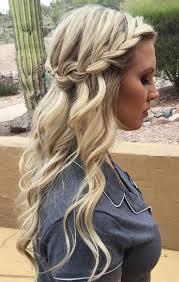 wedding hairstyles half up half down looking for boho