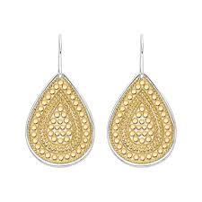 gold teardrop earrings beaded teardrop earrings gold beck jewelry