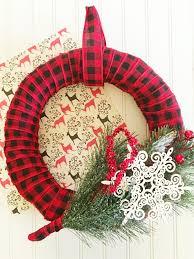plaid christmas plaid christmas wreath frugal eh
