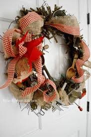 Rooster Utensil Holder How To Make A Vintage Kitchen Tool Wreath Using A Wreath Base