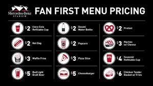 mercedes service prices concession prices at mercedes stadium are something to
