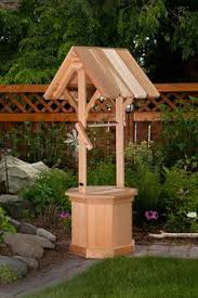 handcrafted pine wood wishing well planter by foreveryourscreation