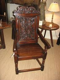 Armchair Sales A Fine 17thc Oak And Inlaid Wainscot Armchair Sales Archive