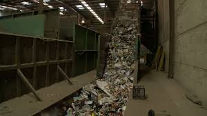 household co mingled mixed waste recycling plant conveyor belt