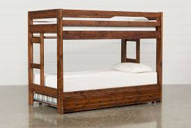 Durango TwinTwin Bunk Bed WTrundle  Mattress Living Spaces - Living spaces bunk beds