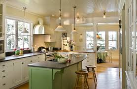 cottage kitchen lighting kitchen beach style with white cabinets