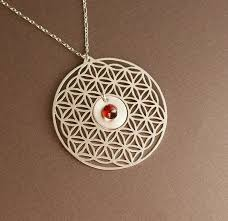 sterling silver flower necklace images Flower of life sacred geometry intricate cuts jpg