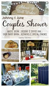 Couples Shower Johnny And June Couples Shower Rustic Shower Decor For Any Shower